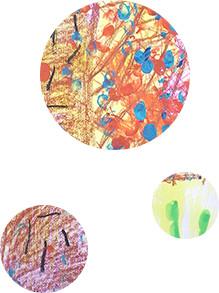 色鮮やかなクレヨン画
