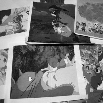 素材として人気のアニメキャラクターがたくさん